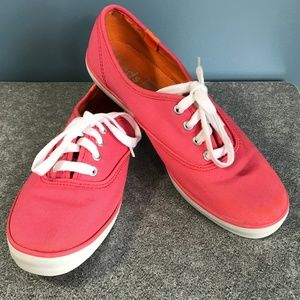 Keds Hot Pink Low Profile Sneakers 7